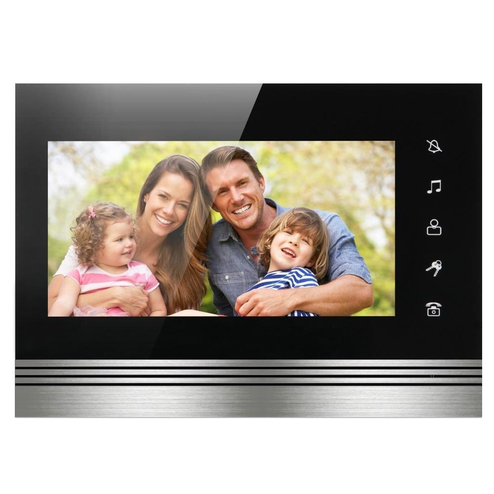 SmartYIBA Video Intercom 7 Inch Color Touch Screen Monitor Wired Video Door Entry System Video Door Phone Intercom