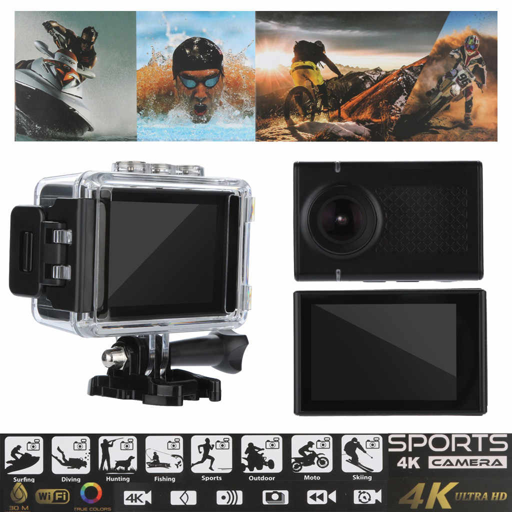 Waterproof Camera 2.35 Inch HD 4K LCD Screen HD Action Sport Camera DV DVR Cam Camcorder Water Resistant High Qaulity 1P L0604#D