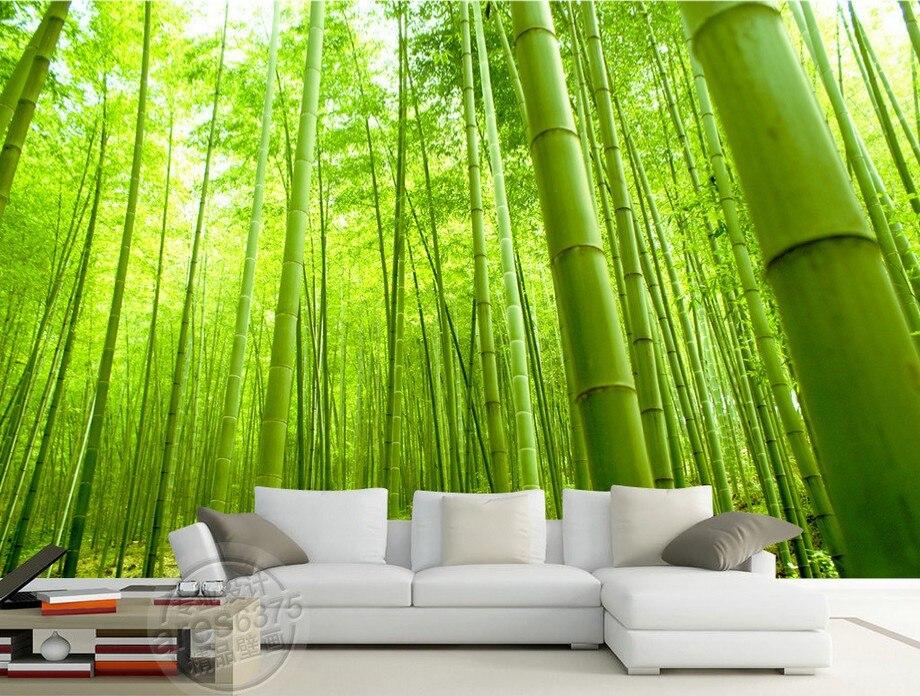 Photo Wallpaper Green Bamboo Scenery Wallpaper 3D Room