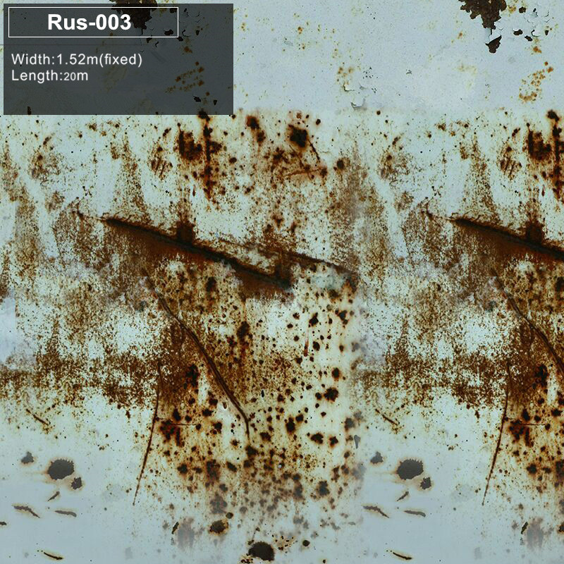 RUS 003Auto Rust Protection Wrap Rust Car Wrapping Sticker bomb Foil PVC Full Body Car Sticker Camo Vinyl  High-end material iron rust vinyl wrap film for car wrap rust style wrapping colored car full body wrap vinyl sticker bomb air bubble free ir 8