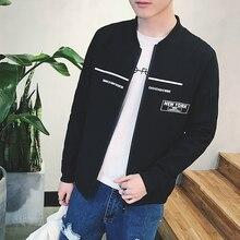 Новая коллекция весна 2017 письма печать ветер предотвращается греться в высокое качество мужская одежда белый/черный/серый пиджак М-2 xl пальто