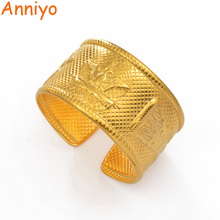 Anniyo Width 3.6cm/Weight About 83g Gold Color Bracelet Papua New Guinea Bangles for Women Men Jewelry PNG Gifts #097206