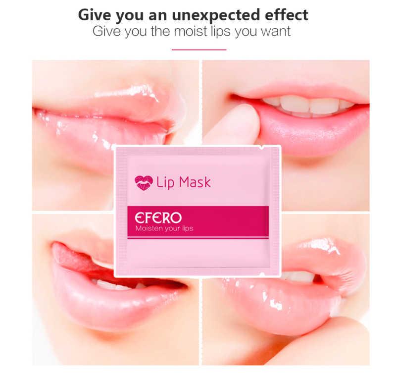 EFERO שפתיים מסכת רפידות תיקון עבור שפתיים תיקוני לחות נגד הזדקנות פילינג שפות שמנמן משאבת יסודות שפתי TSLM1