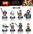 Star wars Figuras de Rogue Uno Starwars Chewbacca Rowan inquisidor Con Sable 8 unids/lote Building Blocks Juguetes Para Niños Lepin