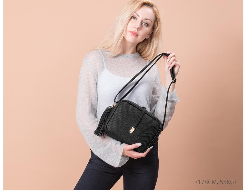 REALER brand small shoulder bag for women messenger bags ladies PU leather handbag purse tassels female crossbody bag women 2019 2
