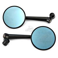 CNC Round Black Rearview Mirrors 8mm 10mm For Motorcycle Cruiser Chopper Dirt Street Bike Scooter ...|Side Mirrors & Accessories|Automobiles & Motorcycles -