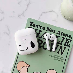 Image 3 - Bluetooth headset cover for apple airpods case peanuts Charlie dog wireless headphone cute Puppy silicone cover for airpods