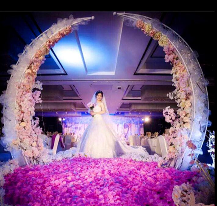New Wedding Iron Ivory Arch Projects Decoration Niujiao Gate Welcoming Area Stage Background