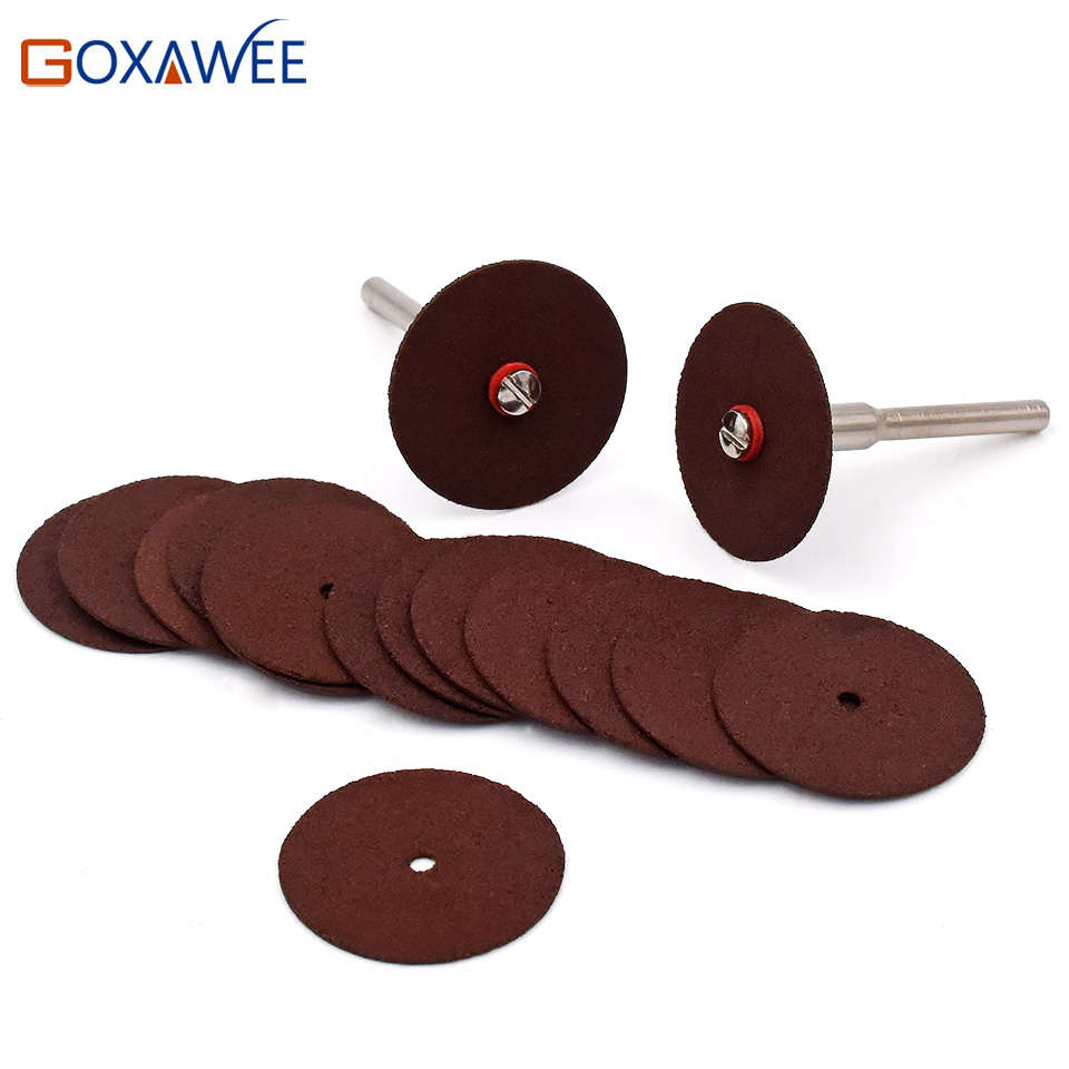 GOXAWEE Saw Blades For Dremel Tools Accessories 36pcs/lot  Resin Cutting Wheel Disc With 2 Pcs Mandrels For Dremel Rotary Tools