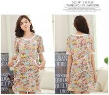 Free Shipping2016 New  summer style Nightgown Nightdress pijama Ladies Sleepwear Women nightwear AZ535