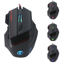Gaming Mouse 7 LED Backlight Mice 1000-3200DPI Adjustable 6 Buttons E-Sports Gaming Mouse For Computer Laptop