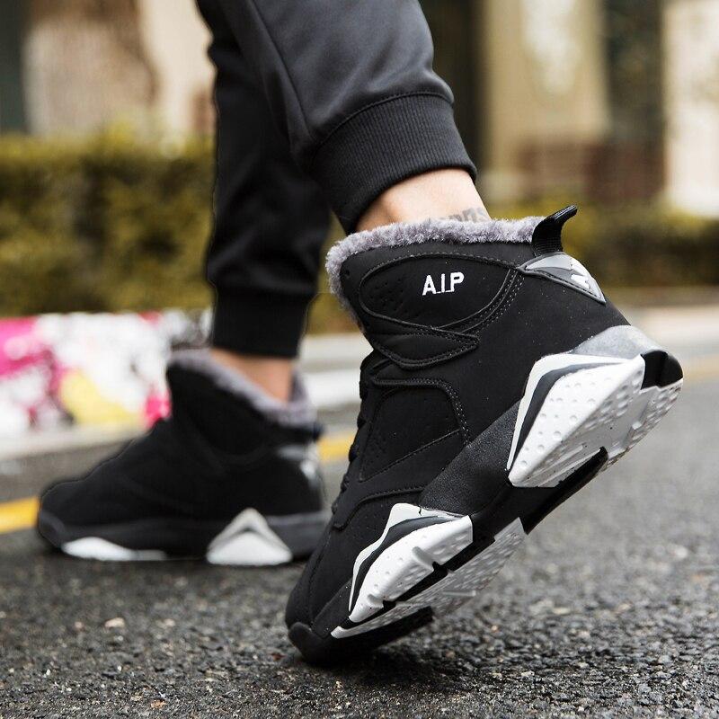 Nouveau hiver chaud basket-ball chaussures pour hommes en peluche haute sport baskets mode Couple bottes Air Jordan Tenis De Basquete Masculino