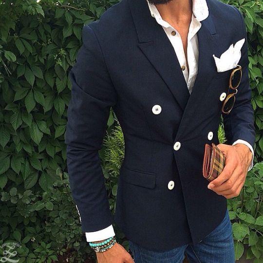 2017 Latest Coat Pant Design Black Navy Blue Double Breasted Blazer Men Suit Casual Jacket Custom Suits Skinny Tuxedo Masculino