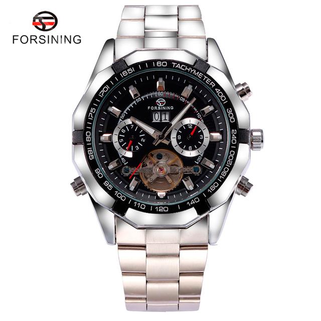 Forsining Marca Homens Auto-liquidação Relógio de Pulso Mecânico Casual Cool Hora Esporte Relógios relogio masculino