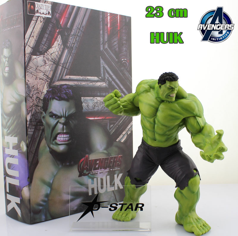 Free Shipping Cool 9 The Avengers Age of Ultron Hulk Boxed 23cm PVC Action Figure Collection Model Doll Toy Gift