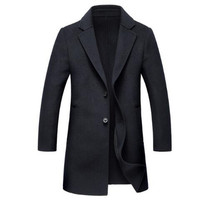 New Brand Handmade Men Coat Wool Double sided Cashmere Coat Winter Casual Solid Color Mens Wool Long Coats