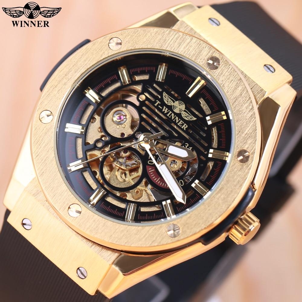 Winnaar 3 wijzerplaat gouden metalen serie herenhorloges Topmerk luxe - Herenhorloges