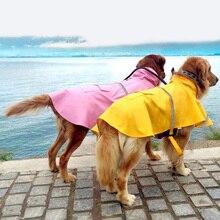 Водонепроницаемый плащ для домашних животных, дождевик для собак, лабрадор, золотые волосы, большие маленькие собаки, ночная Светоотражающая Одежда для собак с защитой от снега