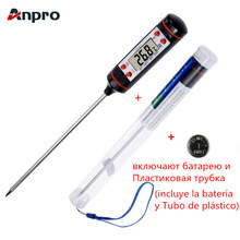 Anpro Kitchen Digital BBQ Food Thermometer Meat Cake Candy Fry Grill Dinning Household Cooking Thermometer Gauges with Battery(China)