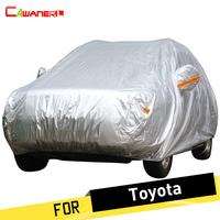 Cawanerl Car Cover Auto Outdoor Anti UV Rain Sun Snow Protector Cover For Toyota RAV4 Corolla Crown Reiz Vios Highlander Camry