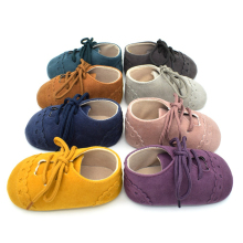 Baby Nubuck Leather First Walker Toddler Kids Lacing Prewalker Infant Casual Anti-slip Soft Sole Shoes