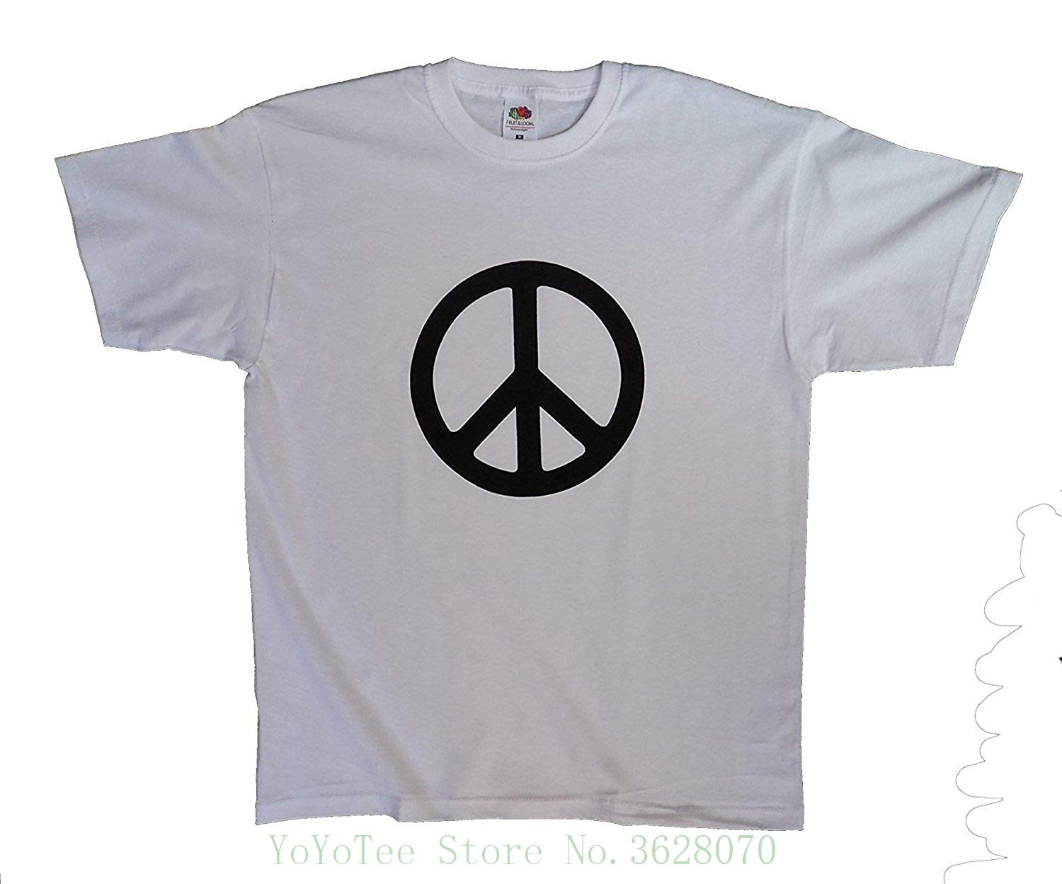 Designs Cnd Logo , Peace Sign , Hippy Ban The Bomb , Men's T Shirt Short Sleeve Summer Style
