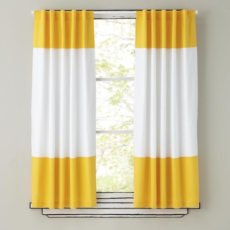 Online-Shop 100% baumwolle weiß und gelb schöne streifen vorhang für ...