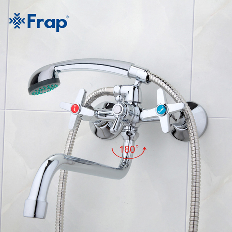 Frap New Bathroom faucets long water outlet tube move 90 degrees left and right Simple style hot and cold water torneiras F2220