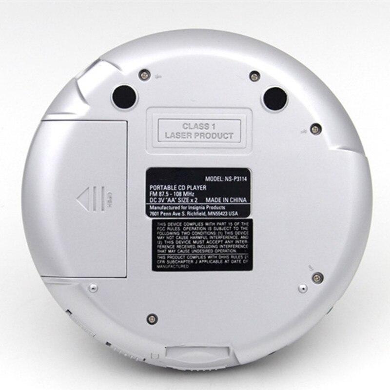 Портативный cd walkman Музыкальный плеер поддерживает MP3 WMA CD R формат диск FM радио Повтор басов boost противоударный с гарнитурой светодиодный экран - 6