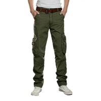 High New Casual Men Tactical Cargo Pants Slim multi pockets Men Pants Three colors available Fashion Cargo Pants Hot Sale