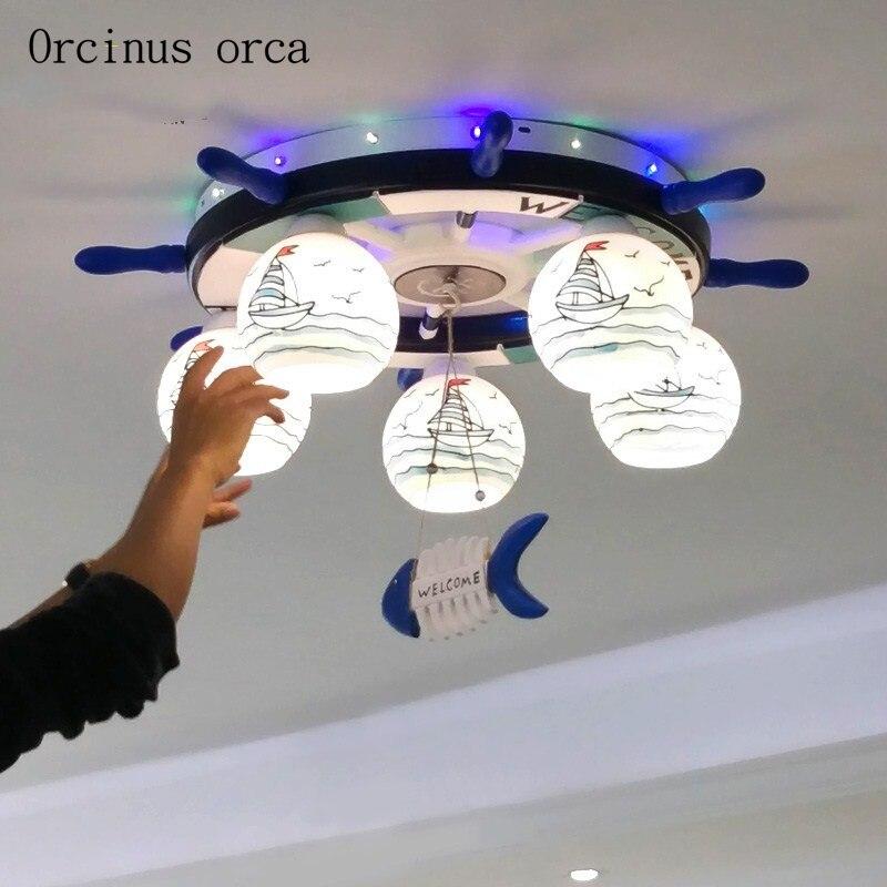 La créativité de dessin animé poney plafond chambre de lampe enfants garçon fille bébé chambre chaud protection des yeux LED plafond lampe livraison gratuite