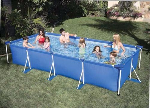Lovely Rectangle Swimming Family Pool Laminated Inflatable Above Ground Bath  Ultralarge 220*150*60cm(