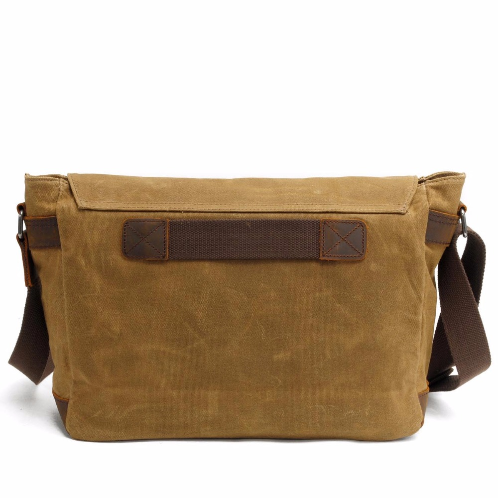 8f3b748778 Drop Shipping Men Wax oil Canvas Shoulder Bag Male Vintage Messenger Bags  Casual Shoulder Bag Crossbody Bags Men s Handbags on Aliexpress.com