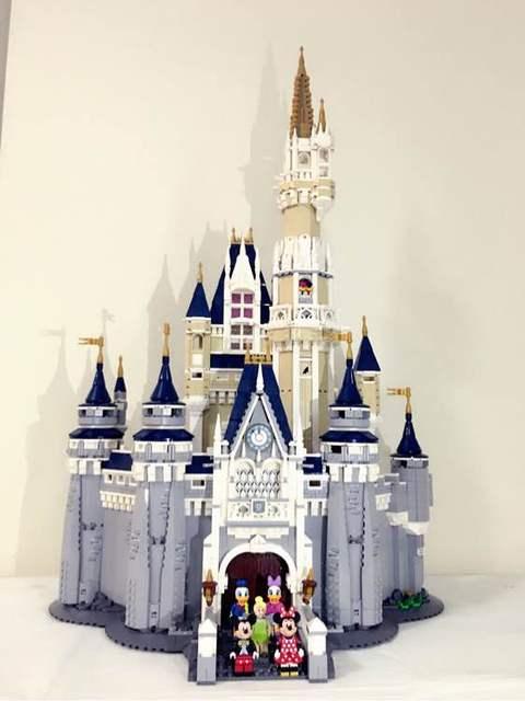 4080 Unids Lepin 16008 Creador de Cenicienta Princesa Castillo Ciudad Edificio Modelo de mini Bloque de Juguetes Para Niños de Regalo Compatible 71040