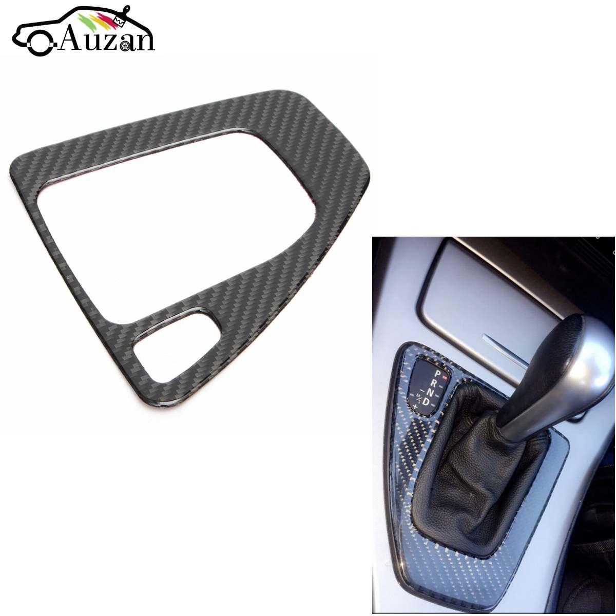 Car Gear Shift Panel Surround Frame Decorative 3D Sticker Carbon Fiber For BMW E90 E91 E92