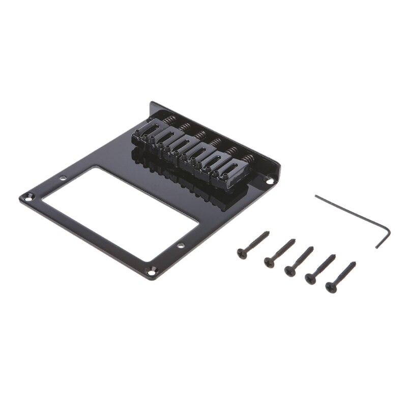 New 6 Square Saddle Telecaster Humbucker Guitar Bridge Parts Accessories
