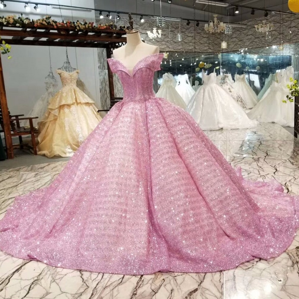 Colorful Ball Gowns Wedding Dresses 2019 Custom Made Sexy