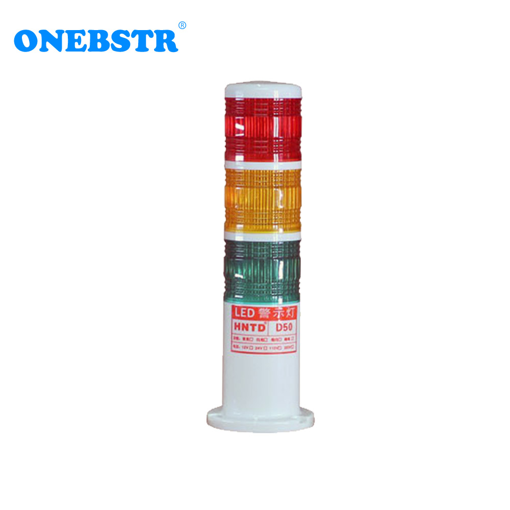 HNTD 24V LED Semaphores Warning Indicator Signal Light TD50 Barrel Type 3 Color Often Bright CNC Machine Tools Free Shipping