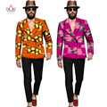 Мужские Африканских Одежды Мужские Куртки и Пальто Мужская С Длинным Рукавом блейзер Slim Fit Пиджак Пиджак Dashiki Мужчин Плюс Размер 6XL WYN285