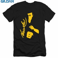 GILDAN Men Fashion T Shirt Top New Summer Tee Shirt Homme Bruce Lee Printed Casual Women