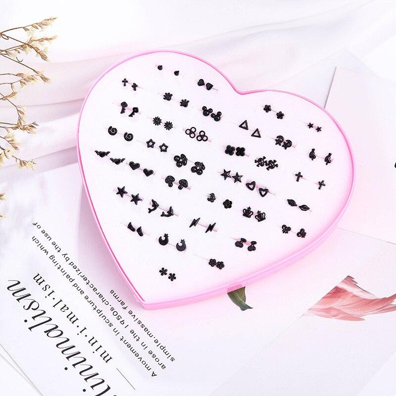 cute small plastic Prevent allergy korean earrings kolczyki geometric women stud gold minimalist silver hoops fashion heart 2018 gold earrings for women