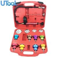 14 Pcs Radiator Pressure Tester Tool Kit Cooling System Testing Tool Vacuum Vehicle Universal Coolant Vacuum Purge