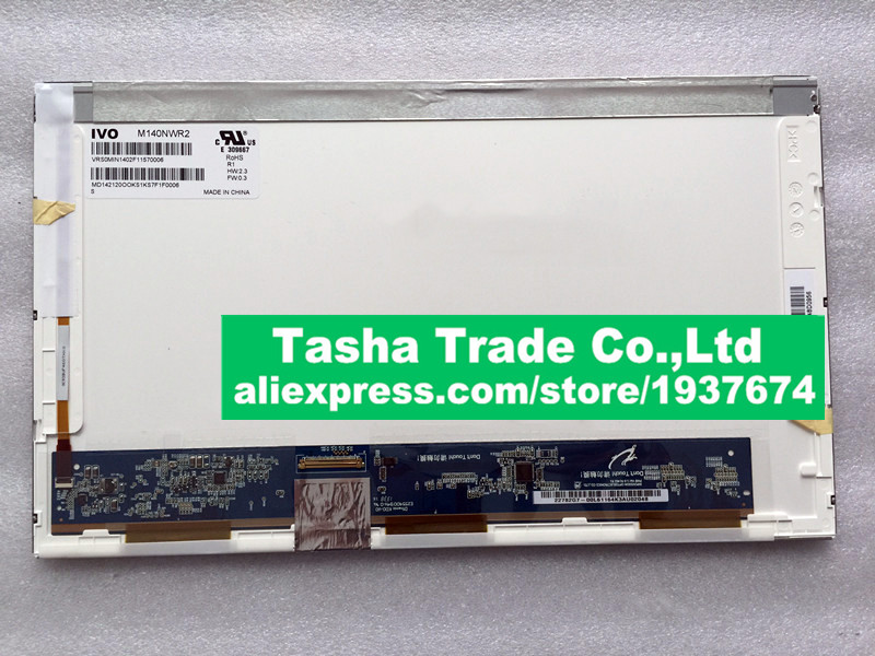 цена For Asus A43S A43E A43SD LCD Screen Display M140NWR2 R1 IVO 14.0  LVDS 40Pins 1366*768 LCD Glossy Tested Before Shipping. онлайн в 2017 году