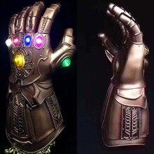Avengers Infinity War Thanos Infinity Gauntlet Cosplay Prop Deluxe Gleamy Thanos Glove 1:1 Halloween Prop For Adult