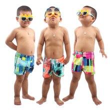 Продукт из полиэстера и спандекса 3 цвета милый детский купальный костюм для мальчиков купальный фигурка Trunks платье с цветочным рисунком подростковые Популярные Лидер продаж