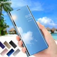 Custodia Smart Clear View Mirror per Xiaomi Redmi 4X 5 Plus Note 3 4 5 4X 5A custodia cover per Xiaomi mi A1 A2 MIX 2 Flip Stand