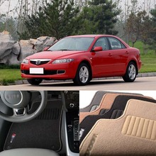 Savanini 5pcs Premium Auto Fabric Nylon Anti-slip Floor Mats Carpet For Mazda 6