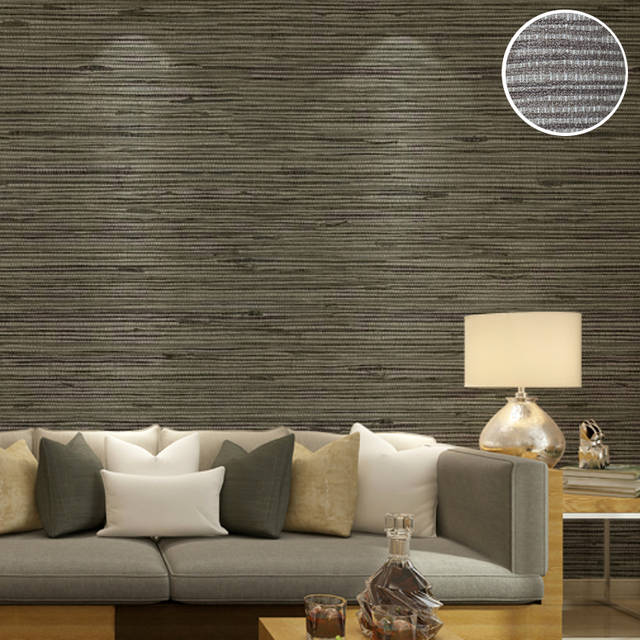 Us 27 69 29 Off Classic Style Rustic Embossed Vinyl Textured Faux Grasscloth Wallpaper Modern Solid Vinyl Wall Paper For Bedroom Decor Roll 10m In