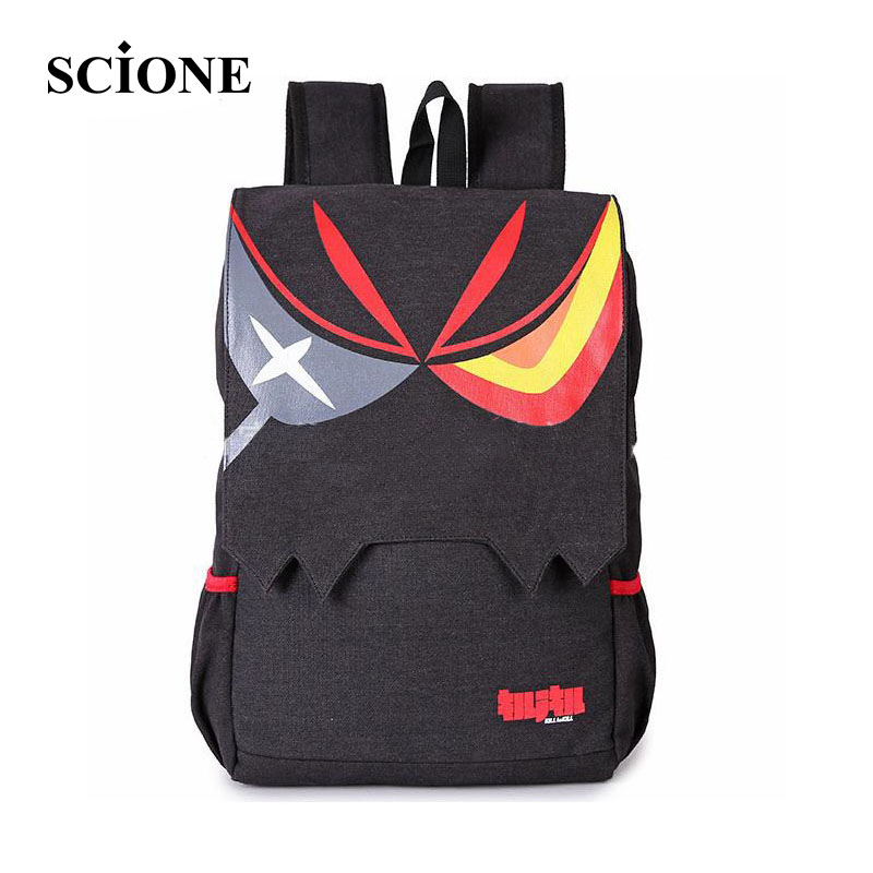 Cartoon Manga KILL la KILL Anime Matoi Ryuuko Backpacks Black Large Capacity Men And Women Ourdoor
