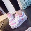 Nova Queda Mulheres Moda Sapatos Casuais 2016 Mulheres Respirável Sapatos Ao Ar Livre Andando Sapatos Superstars Preto Das Senhoras Zapatos Mujer MX22